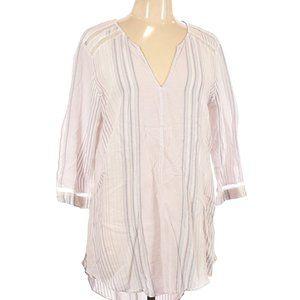 Victoria's Secret Sheer Striped Shirt Sz L